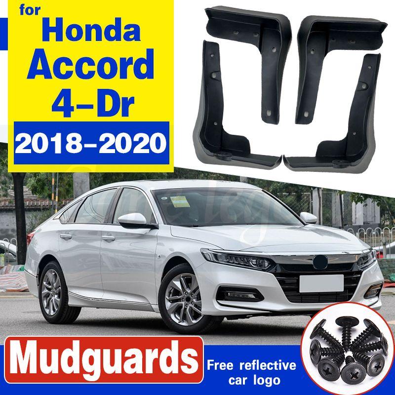 Vols de boue moulée de voiture moulée pour Honda Accord 2018-2020 4-DR Sedan Mudffflaps Splash Guards Garde-boue Mud Garde-boue Accessoires