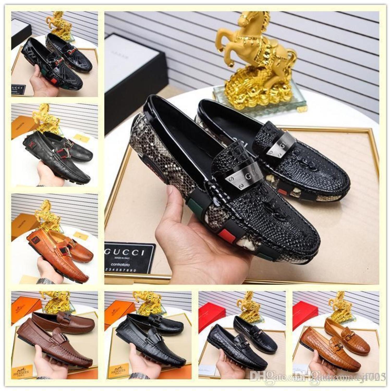 Hot Mens Loafers Leder Retro Schuhe Warmflach- Fahren Freizeitschuhe Männer Hohe Qualität Brown Espadrilles British Style