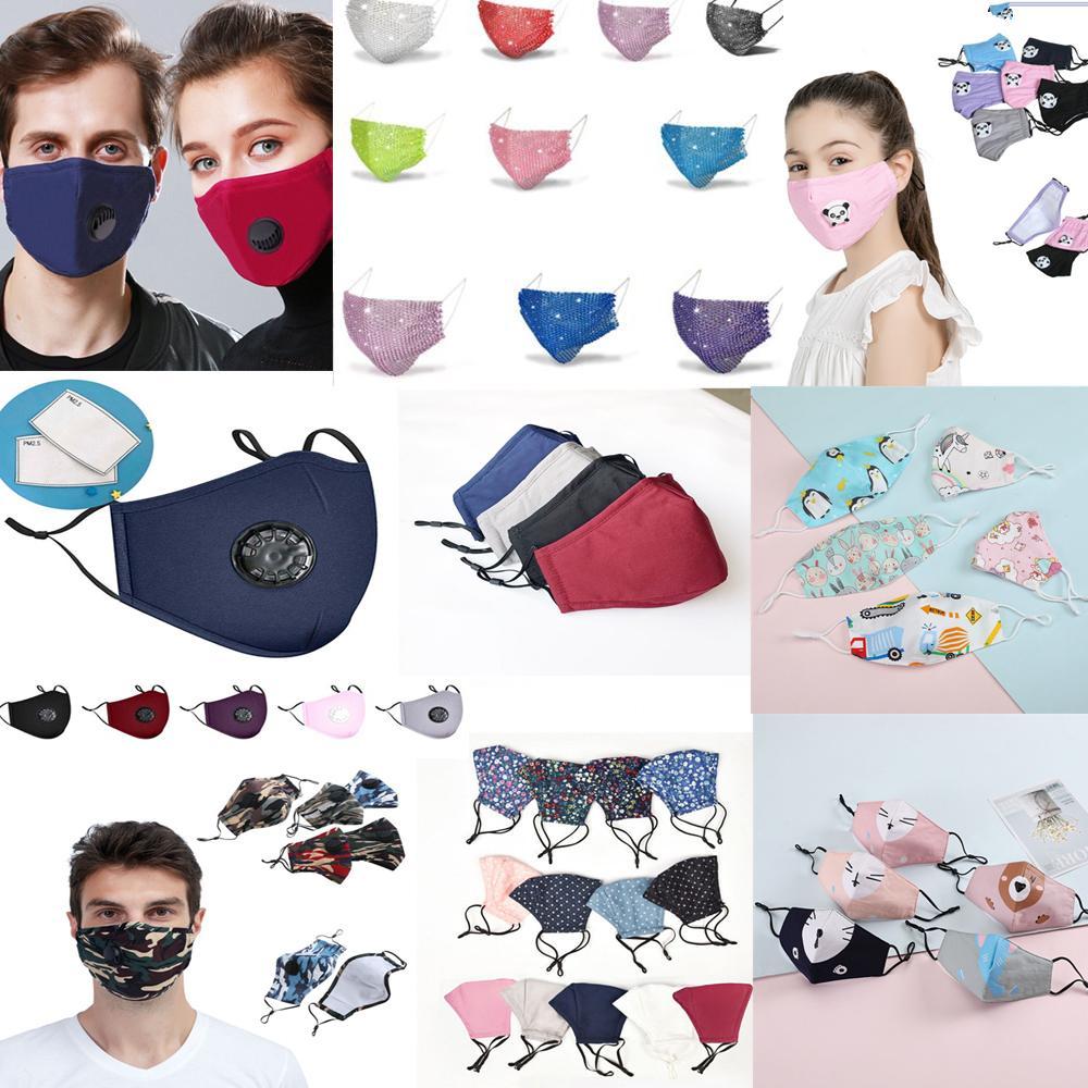 Pamuk karşıtı toz maskesi karbon filtre taklidi Ağız tasarımcı yüz maskeleri Yüz maskeleri Maske Siyah ağız faceshield yeniden Yüz Maskesi Maske