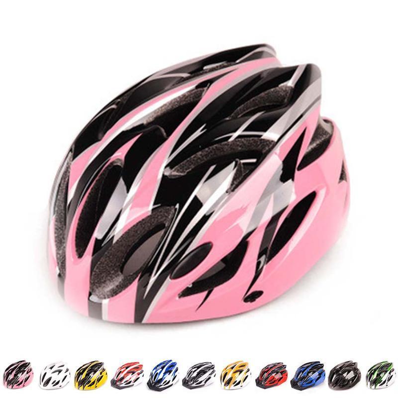 7 Stiller Bisiklet Kaskı LED Işıklar saçakları Erkekler Kadınlar Nefes Ultralight Sport Bisiklet Kask MTB Dağ Yolu Bisiklet İçin
