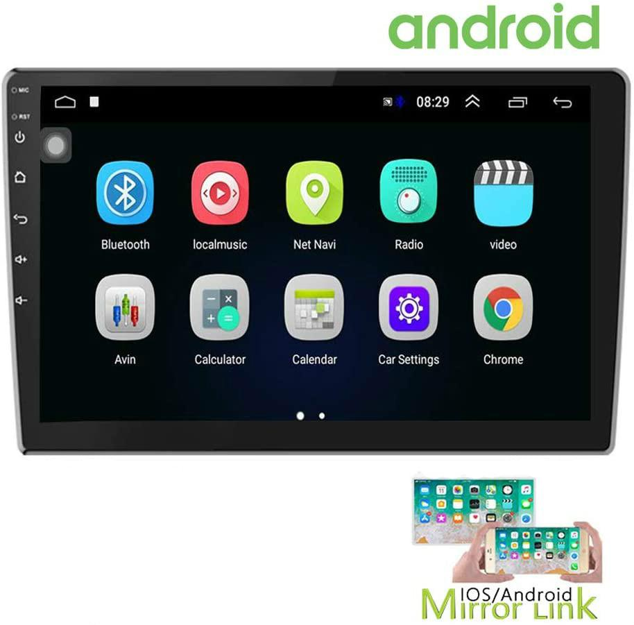 10.1 Inch Android Car Stereo Car DVD with GPS Double Din Car Radio Bluetooth FM Radio Receiver Support WiFi Connect Mirror