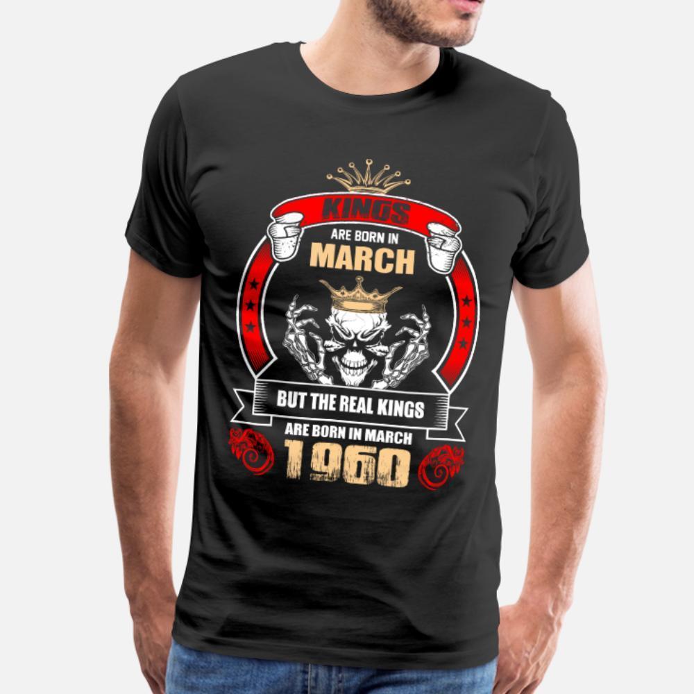 Reis nascem em março, mas só os reis reais são Bo t shirt homens Camisa personalizada Natural Formal engraçado Casual verão 100% algodão S-XXXL