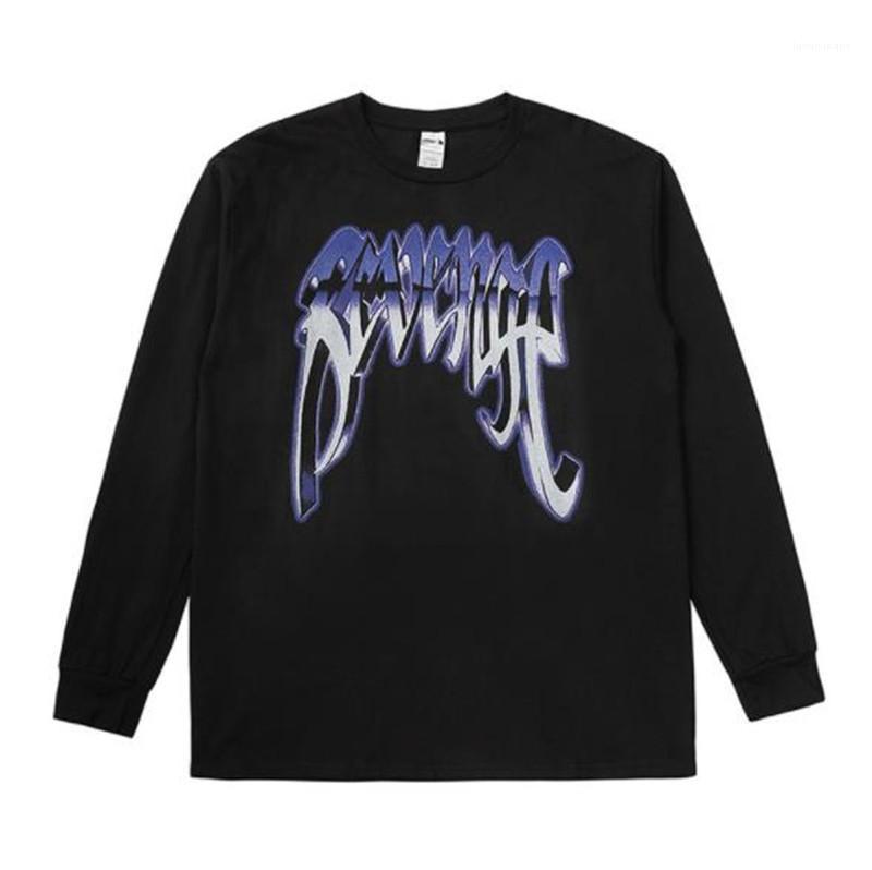 3D lettera stampata allentato casuale a maniche lunghe girocollo Pullover T Shirt Moda Uomo e donne Tees XXXTENTACION camicie da uomo Designer