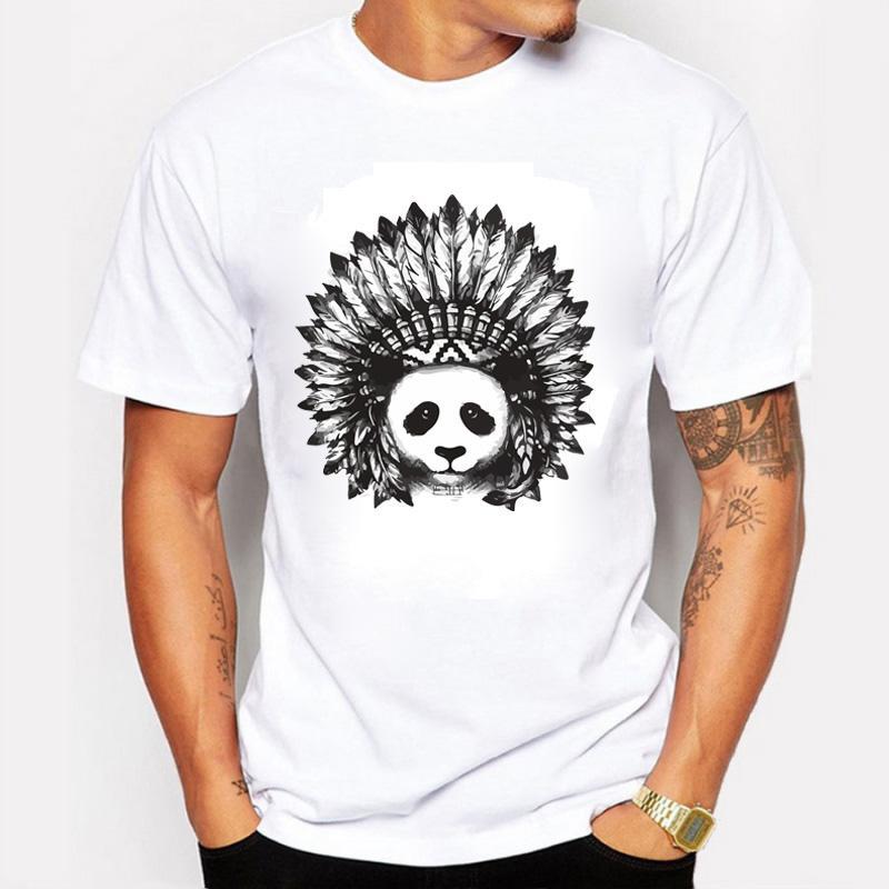 Neue Ankunfts-Herrenmode Panda druckten T-Shirt kühle Spitzen Short Sleeve Tees Herrenbekleidung