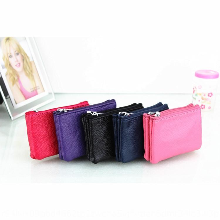 Женская натуральная кожа монета картон бумажник бумажник кошелек творческий двойной слой крафт ключ-карта мешок монет мешок нейлона для женщин