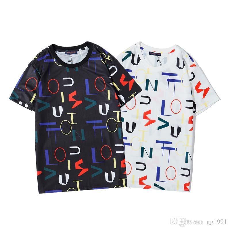2020 Moda Uomo Stylist magliette maglietta di estate Crane qualità di stampa T High shirt Hip Hop Uomo Donna manica corta Tees S-XXL