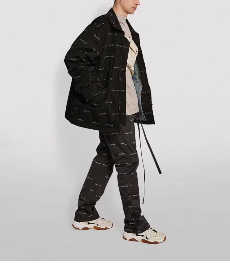 СТРАХ GOD 2020SS шестого сезона ВОГ ESSENTIALS главная линия заградительных Комбинезоны нейлон случайные мужчины брюки напечатаны штаны