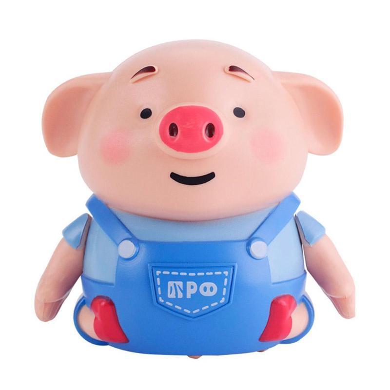 Inductive Pig Pen Draw Line Heel Robot Light Music Animal Education Kid Toy Follow Drawn Line Pig Robot Pen Light Music Animals CX200820