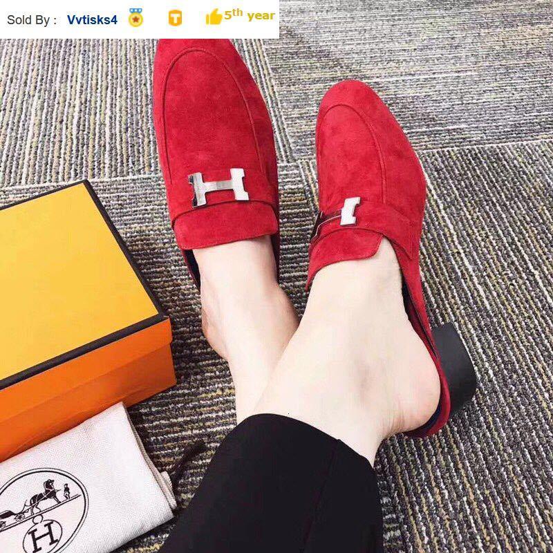 205.906 estivi caldi di vendita unico mezzo pantofole donne tacchi alti pantofole dei sandali Mules diapositive POMPE scarpe da tennis Abito scarpe
