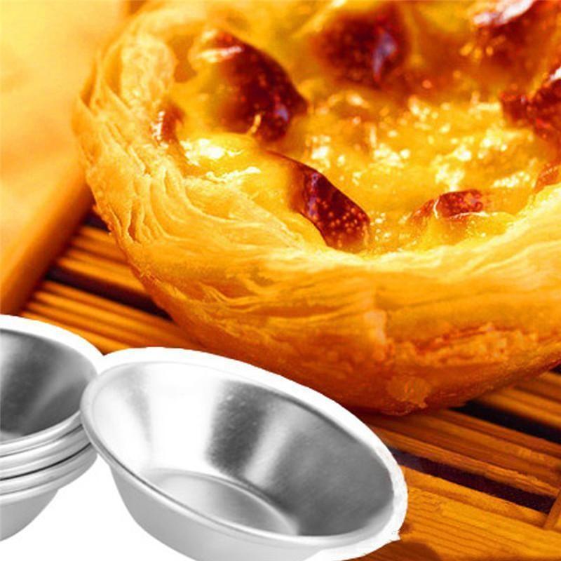 Alumínio grosso Ferramentas Egg 7 Cm Re-utilizáveis Tin cozimento do Super Cupcake Bolo metal Tart UvGAS Mold hotclipper