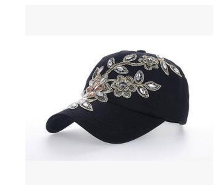 Золотой цветок шапка Нового горный хрусталь регулируемого дизайн Белых Шляпы Color Популярные Caps Balck Бейсбол Дрель Top мода с продажей падение sqaz