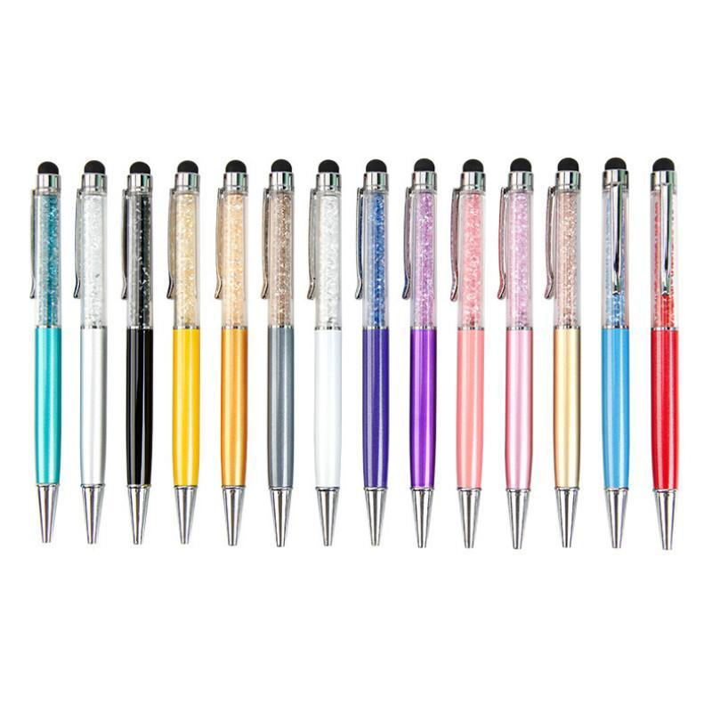 2020 nuevo cristal Bolígrafo creativo de la manera Lápiz táctil para escritorio de la escritura escuela de la oficina bolígrafo de tinta Negro