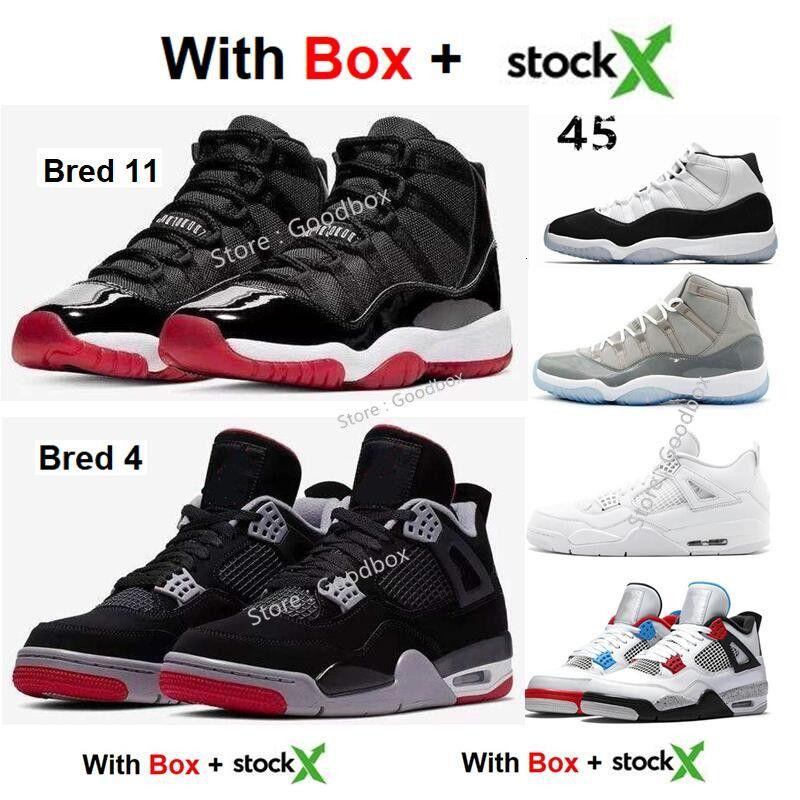 11s Università Rosso 4s Bassa Bred Quello che i 4s Concord 11 Wntr Space Jam 11s 2020 di pallacanestro all'ingrosso Scarpe Cool Grey Sneakers