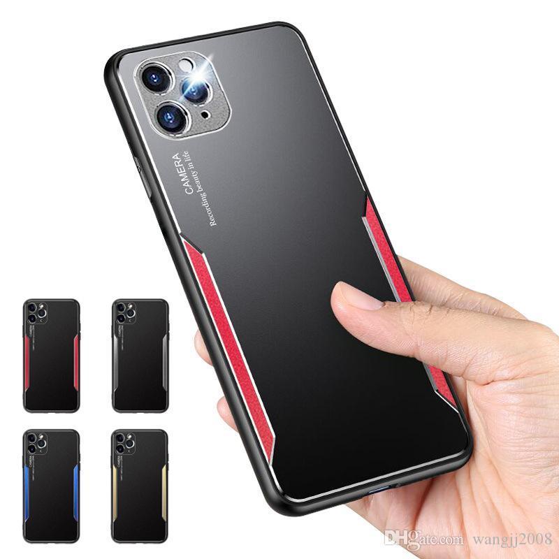 Telefon Kılıfı iPhone 11 Pro X XR XS Max 7 8 Artı Metal TPU kabuk Koruyucu Arka Kapak