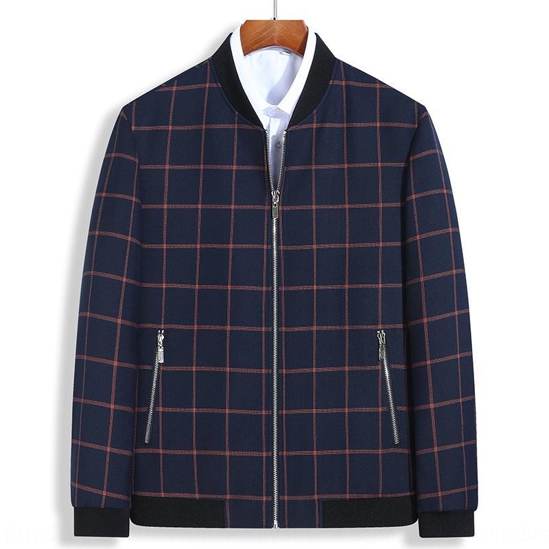 Большого размера мужского жира куртки мужской плюс плюс размер воротник плед случайного Top бейсбол пальто бейсбол пальто модных толстый рыхлых верхний P3eAk