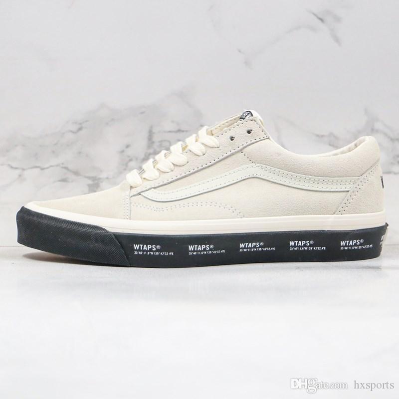 2020 Новый холст обувь Серый Черный WTAPS Письмо Logo Печать Vault По WTAPS OID Skool Мужчины Женщины Скейт обувь