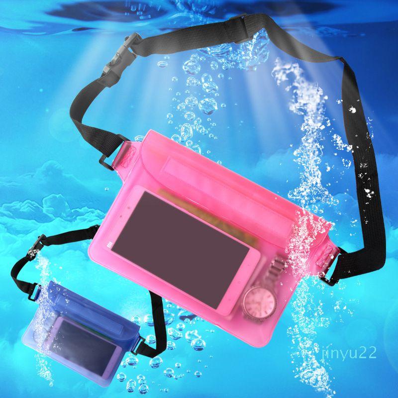 Дизайнер -Multi-Purpose водонепроницаемого мешок хранение уплотнения талия водонепроницаемого карман сумка с поясным ремнем, пляж для купания сумка B717