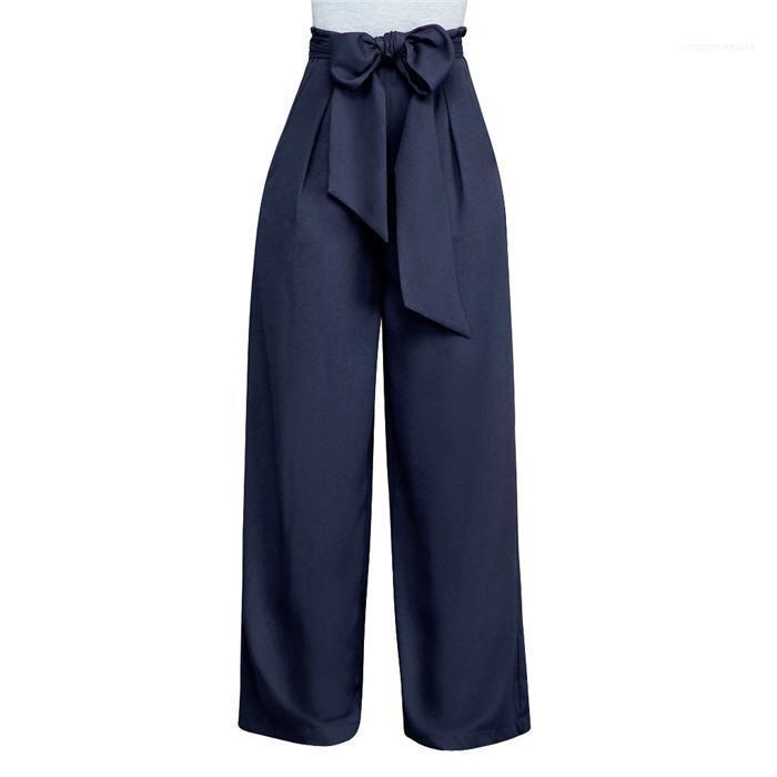 Donne gamba larga pantaloni variopinti allentati femminili morbidi pantaloni primavera-estate delle donne gamba larga pantaloni moda