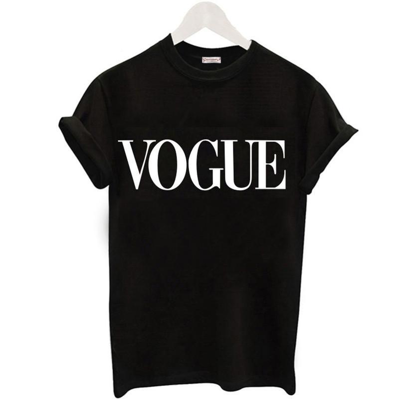 Плюс размер S-4XL Harajuku Летняя футболка Женщины Новые поступления моды VOGUE Печатные футболки Женщины Топы Tee Casual Женские футболки