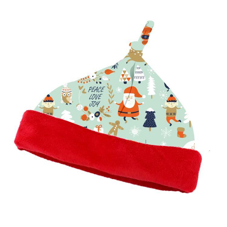Ücretsiz Kargo Yumuşak Dijital Baskılı Minky Noel Şapka İçin Bebek