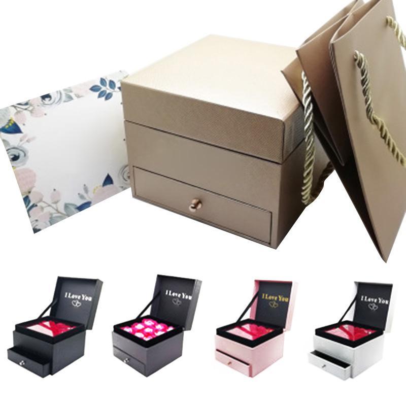 Иммортель ящик для хранения ювелирных изделий женщин серег Подарки Box с хранения сумка SEC88