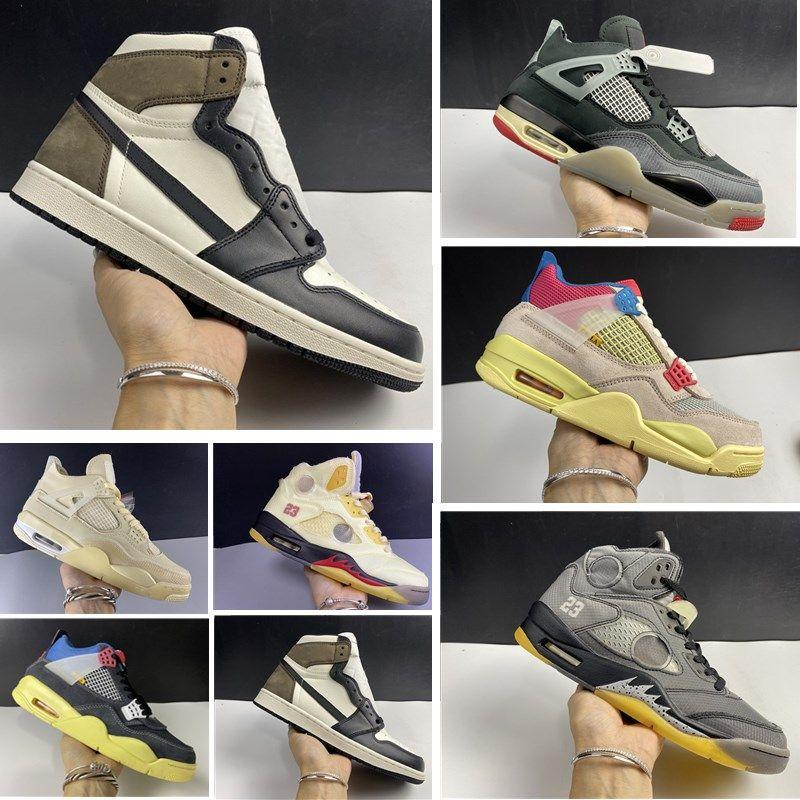 New High foncé Mocha Mens Basketball Union 5S Chaussures Noir SP Voile WMNS Femmes Bred Chaussures de sport Formateurs