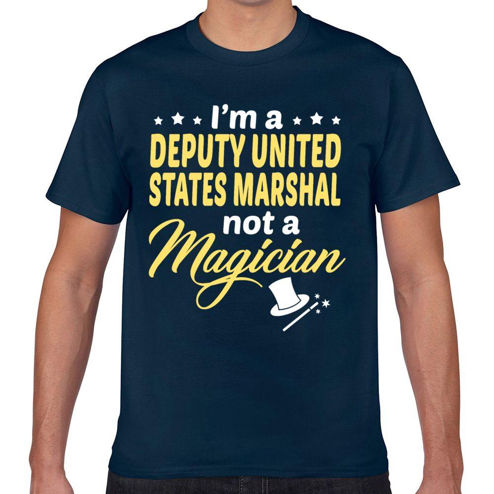 Топы Футболка Мужчины Заместитель США Marshal Summer Harajuku Geek Пользовательские Мужской Tshirt Xxx