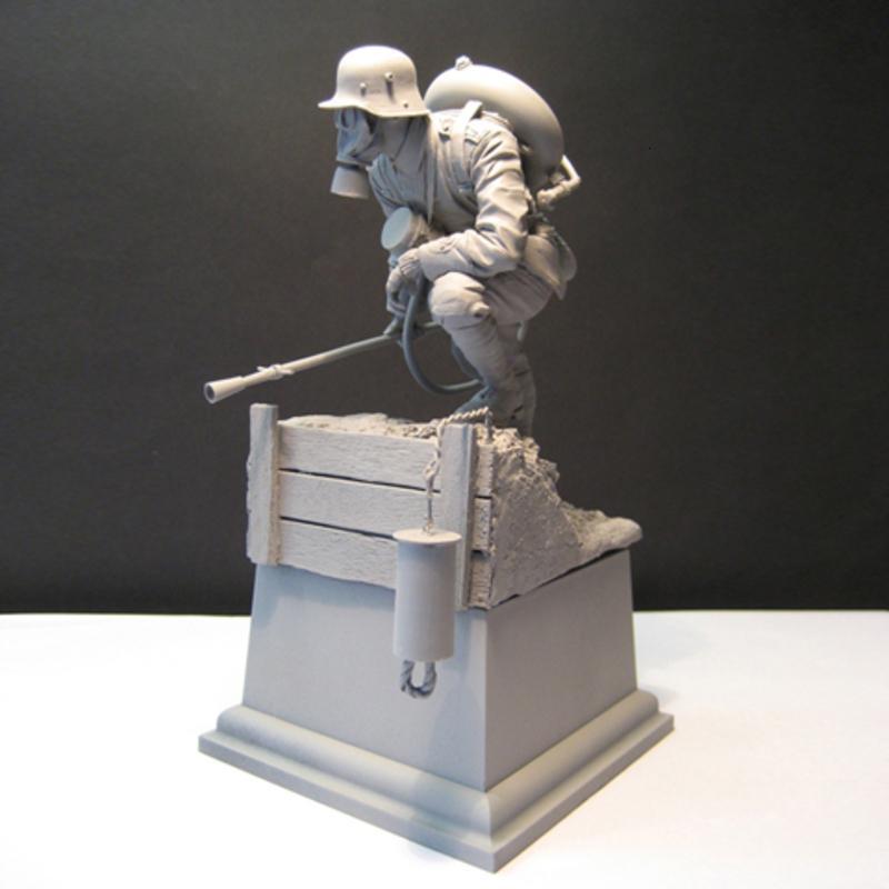 Guerrier biologique non peint 1/16 120mm avec base Historical Figure Kit de résine Livraison gratuite