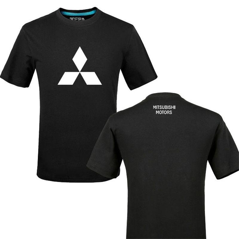 2020 Marka Tshirts Komik Mitsubishi logosu% 100 Pamuk Baskı tişört Unisex Yaz Casual T Gömlek Tees gömlek