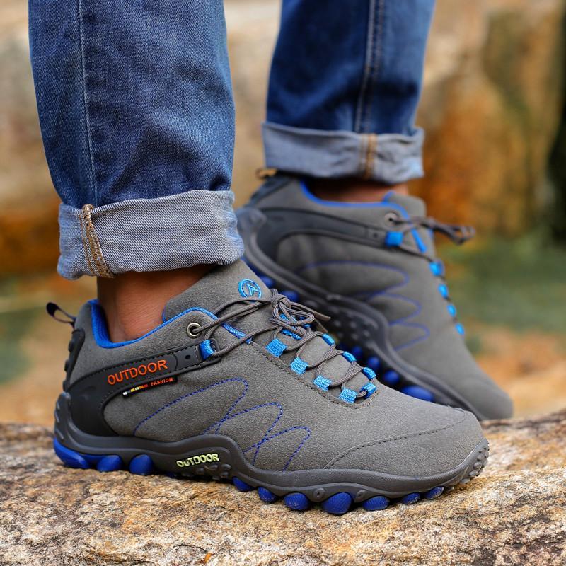 Scarpe casuali dei nuovi uomini di scarpe outdoor coppia maschile il merletto trekking antiscivolo resistente all'usura esecuzione Zapatillas Hombre