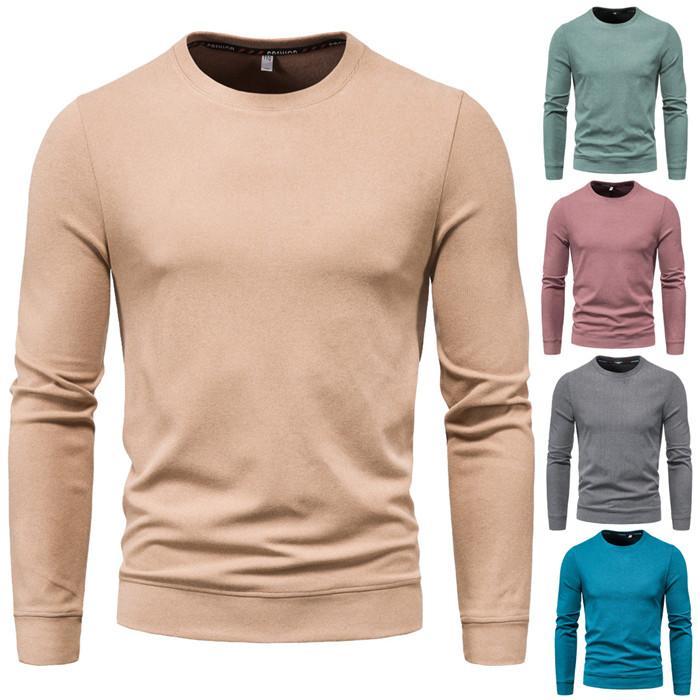 Artı boyutu Mens Tasarımcısı Kapüşonlular Katı Renk Kazak Uzun Kollu Spor Erkek Giyim Sonbahar Casual Erkek Sweatshirt'ler