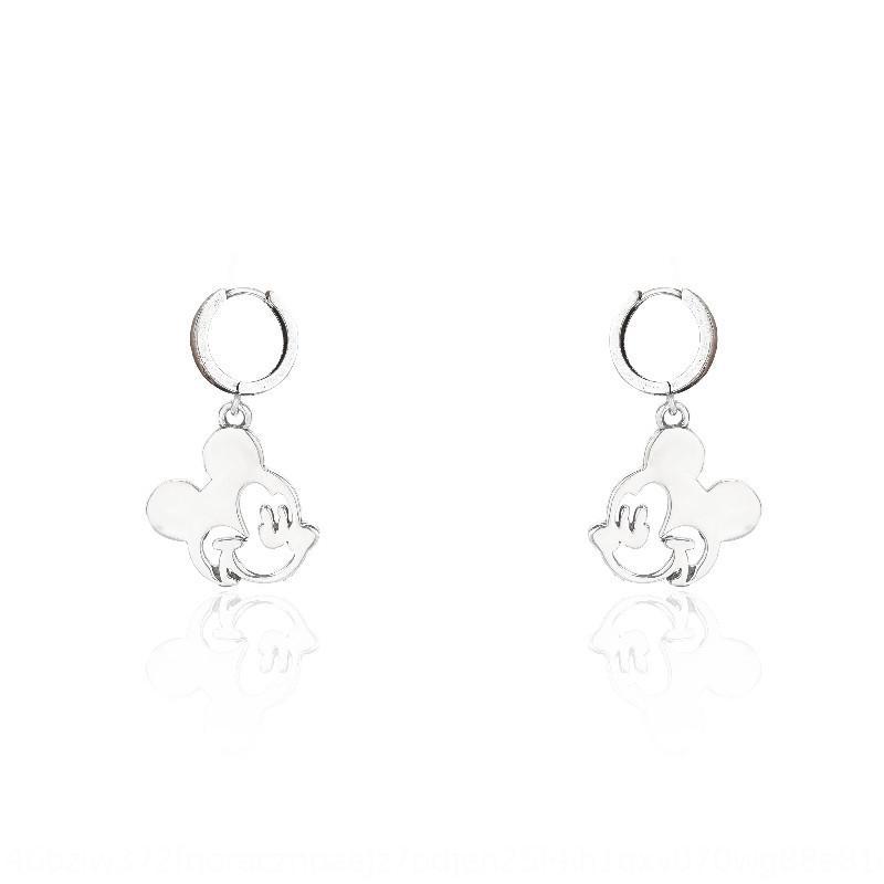 Koreanische Art und Ohrringe Sterling Silber 925 cuteMouse Ohrringe Art und Weise Art und Weise einfach in Online-rot Artkarikatur Tierohr e3ds3