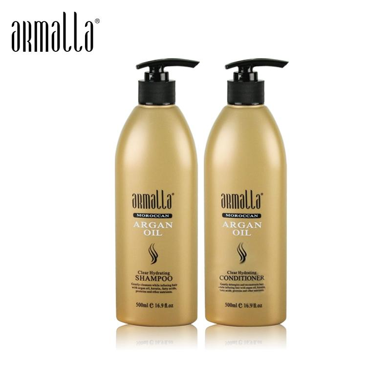 New Products Armalla 500ml Moroccan Dry Natural Shampoo+500ml Argan Oil Deep Conditioner For Hair Repairs Damage Products
