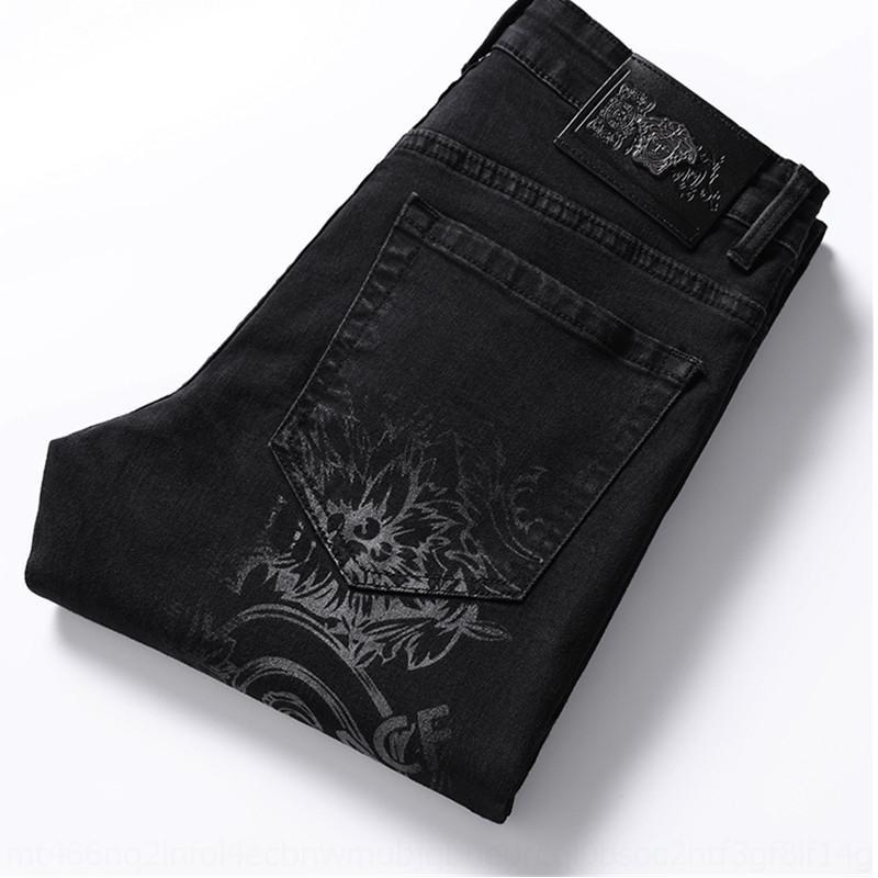 Pantaloni da uomo caratteristiche di I2YBP jsCSy Mei DUSHA e stampati jeans uomo casuale sottile personalità rette giovane e in forma dei jeans pantaloni