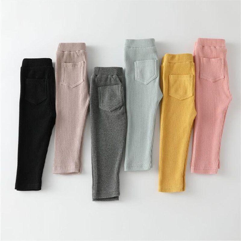 2020 nuevos pantalones de los bebés de las polainas del algodón PP grandes del otoño del resorte de chicas para niños Pantalones de cintura alta moda largo pantalones de los niños de las bragas MX200811