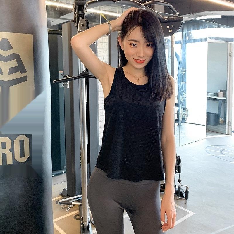 Sport Weste Frauen lösen Oberbekleidung I-förmigen Yoga Top ärmellos schnelltrockn gebunden Top Weste Coat vestT-Shirt Fitness Bluse Mode läuft