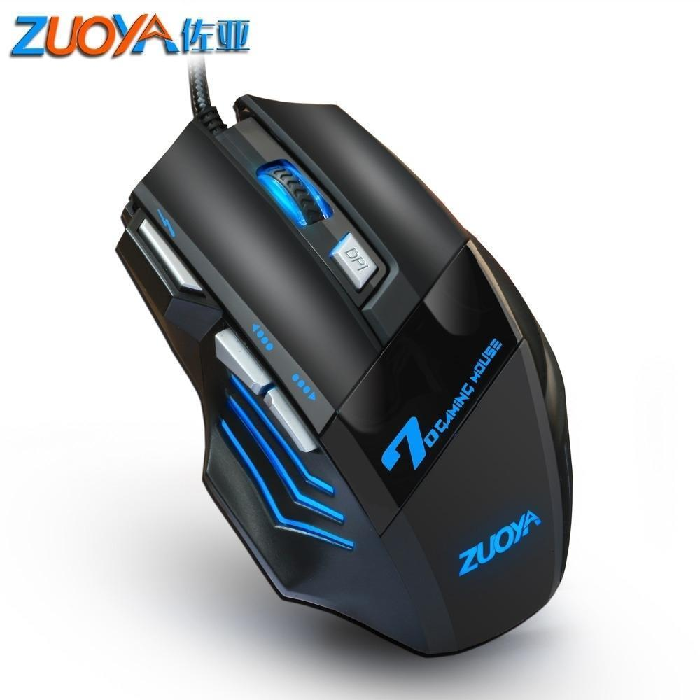 Professional Gaming Mouse filaire 7 Bouton 5500 Dpi Led Mouse Game Usb Optical Mouse Computer Gamer Souris Câble silencieux Mause pour PC T191128