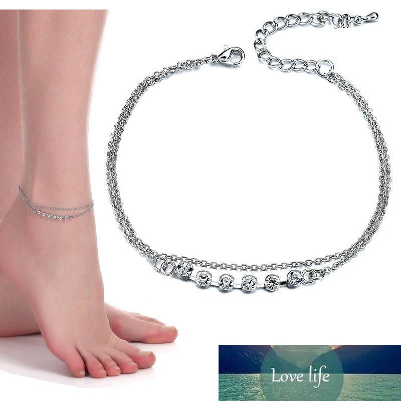 Kadınlar Yaz Plaj Takı Halhal Çiçek Charms Ayak Zinciri Ayak bileği bilezik Barefoot Sandal Gümüş olacak ve kumlu damla gemi