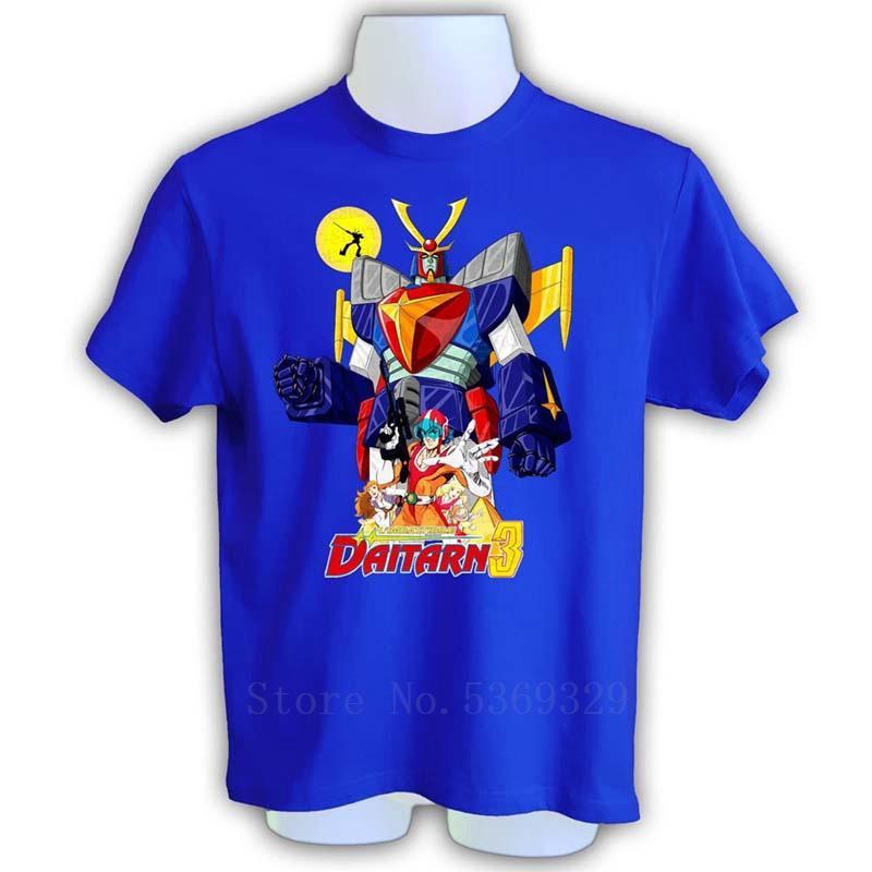 hombres camiseta gráfica de la nueva llegada Daitarn 3 Super Robot de dibujos animados de los hombres de los hombres de la camiseta de manga corta camiseta hombre de calidad superior camiseta