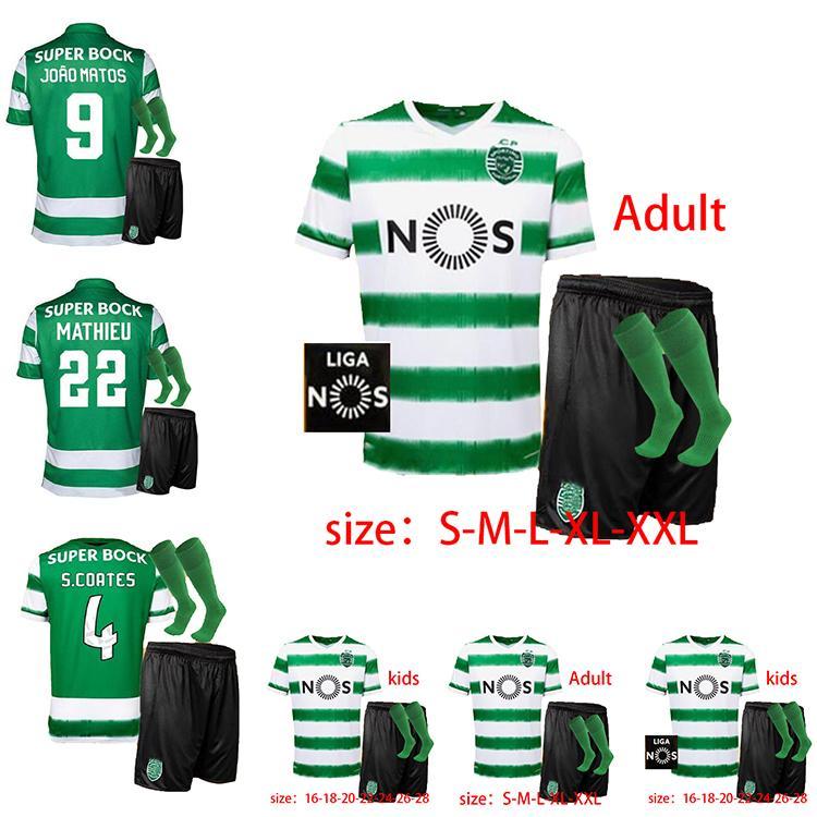 Mens bambini + calzini 20 21 Sporting Clube de Sporting CP Lissabon Fußball Trikots 2020 2021 B.FERNANDES maglia da calcio LISBONA DOST maglia da calcio