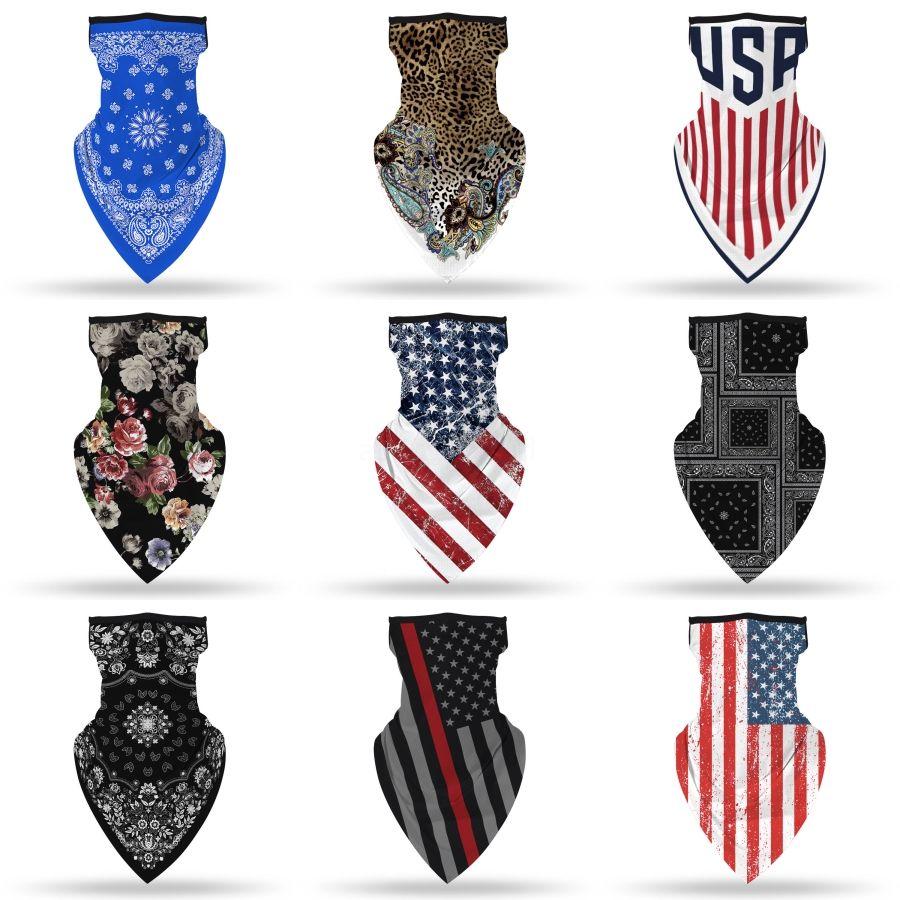 Schicht-Gesichtsmasken Earloops Home Use Komfortable Mouth Ski Mask Designer Printed Black # 436