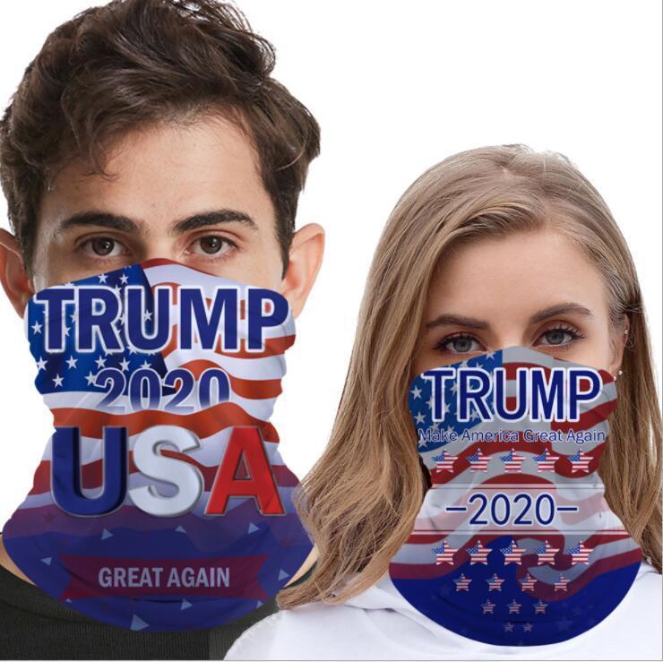 Trump Keep Amerika Büyük ABD Magic Eşarp Yarım Yüz Erkekler Kadınlar Moda Borulu Bandana Windproof Kafa Açık Tasarımcı maskeler DHF630 Maske