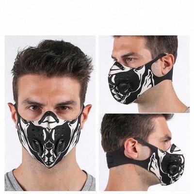Esporte máscara máscaras Outdoor reutilizáveis Rosto alças ajustáveis e Orelha Loops carbono proteção do filtro máscara com filtro lavável Máscaras EEA1858 umNk #