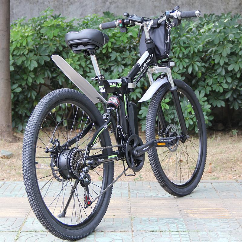Precio de fábrica listo para ser enviado bicicleta eléctrica bicicleta plegable 350W / 500W 26 pulgadas bicicleta eléctrica con batería de 10 Ah / 13Ah