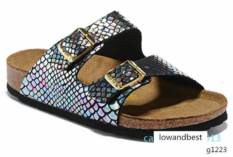 805 Arizona Mayari Gizeh sokak yaz Erkekler Kadınlar pembe daire sandalet Mantar terlik Sandy Beah rahat ayakkabı karışık boyutu 34-45 C13 yazdırmak unisex