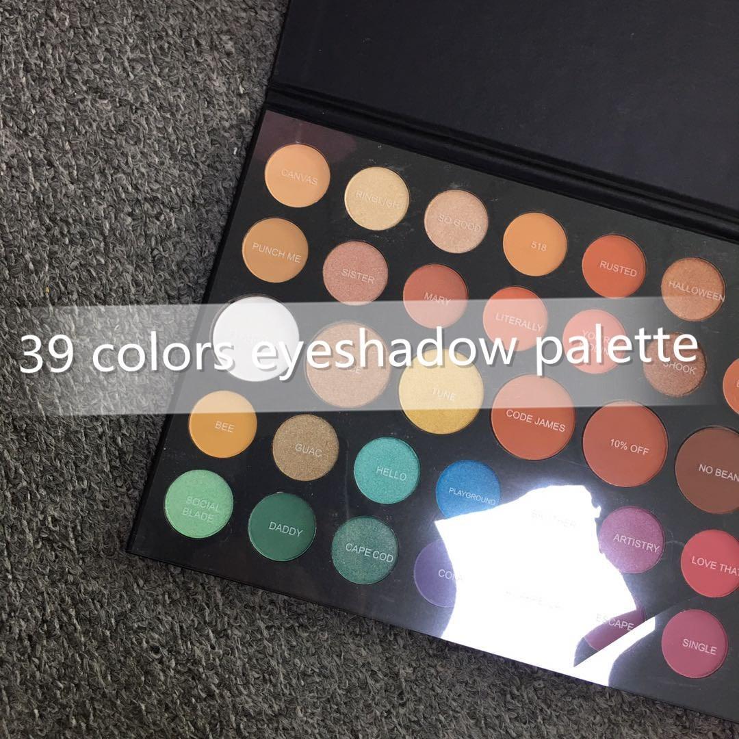تشارلز 39 ألوان ظلال العيون لوحة الطبيعية 39x عينيه مستحضرات التجميل 12 قطع dhl
