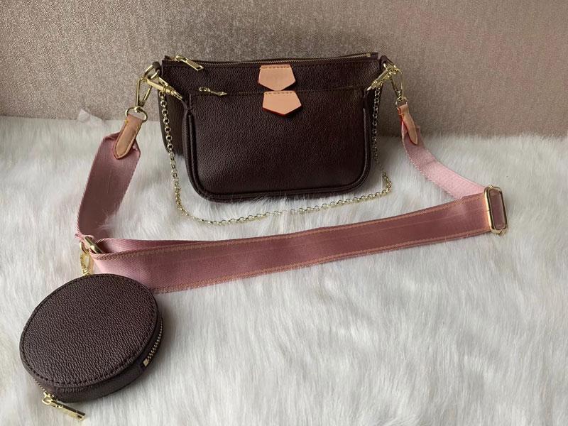 Arbeiten Sie Handtaschen Multi Pochette Accessoires Geldbeutel Frauen Lieblings-Mini Pochette 3pcs Zubehör Umhängetasche Schulterbeutel