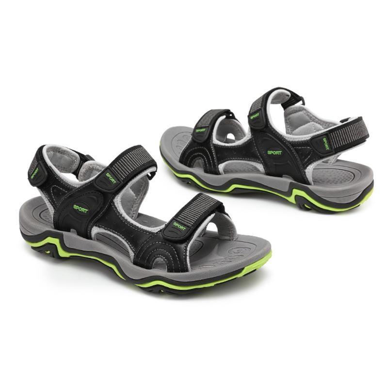 LGFM-Men Fashion sandali di estate del cuoio genuino dei pattini casuali Classic scarpe stile maschile sandali respirabili estive per gli uomini