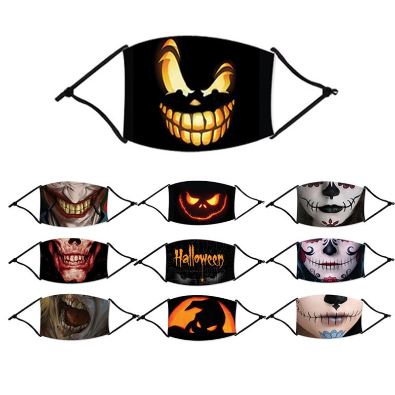 Máscaras de Halloween para Adulto Anti Poluição Nevoeiro Cotton Mouth Halloween Máscara Máscaras Máscaras Reutilizáveis Lavável Dustproof protecção partido