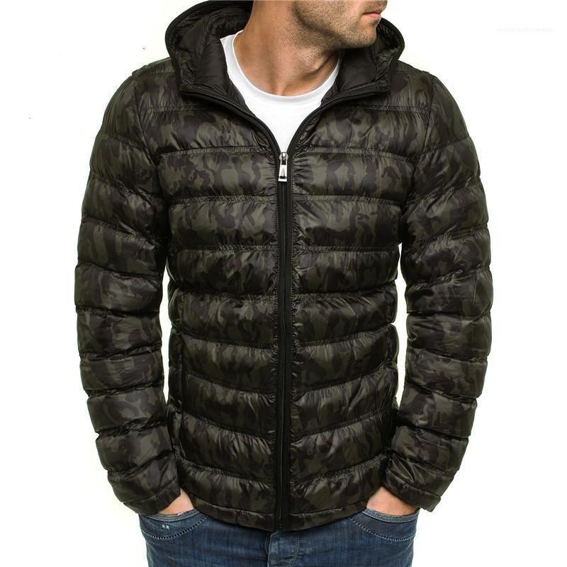 Scuro Grain Mens Designer cotone imbottito giacche moda Panelled Zipper Mens con cappuccio in cotone imbottito giacche abbigliamento casual Maschi